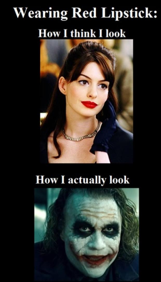 Best of Expectation Vs Reality Pictures- Red lipstick