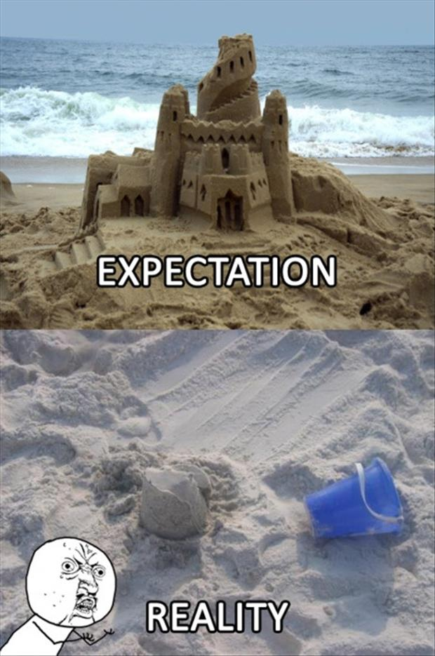 Best of Expectation Vs Reality Pictures- Sand castles