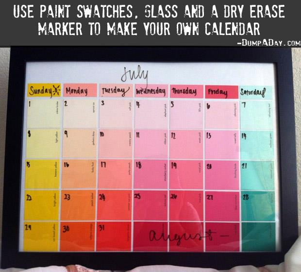 Crafty ideas- DIY Calender
