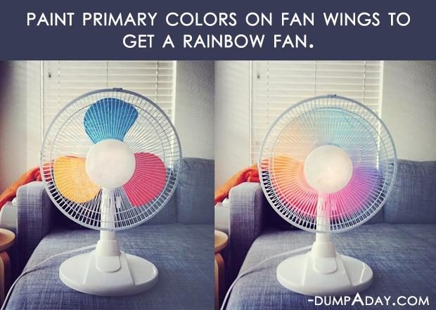 Crafty ideas- DIY rainbow fan