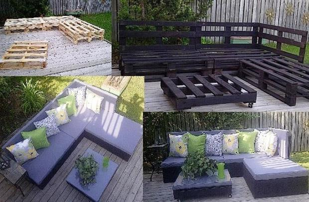 Patio Furniture Made with Pallets http://www.womens9.com/view/26372/DIY%3A+Accessoires+for+your+Home
