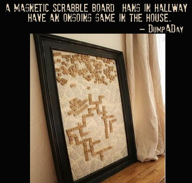 Crafty ideas- magnetic scrabble