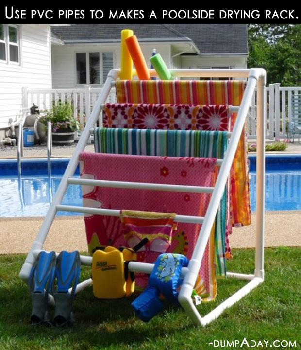 Crafty ideas- pvc pipe drying rack