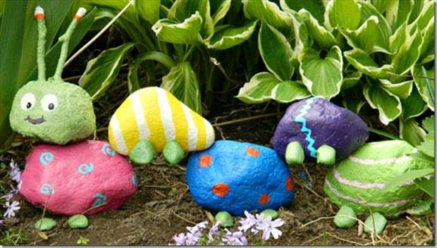 DIY-Fun-Crafts-Rock-Garden-Caterpiller