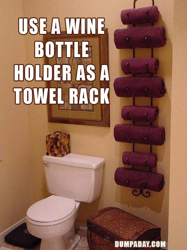 DIY-Fun-Crafts-Wine-towel-holder