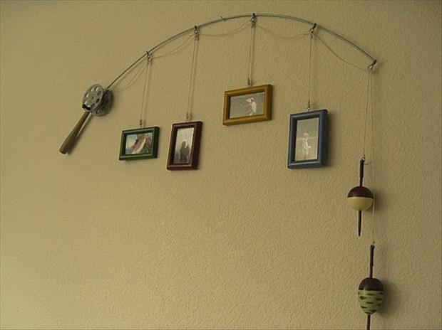 DIY-Ideas-Fishing-pole-picture-holder