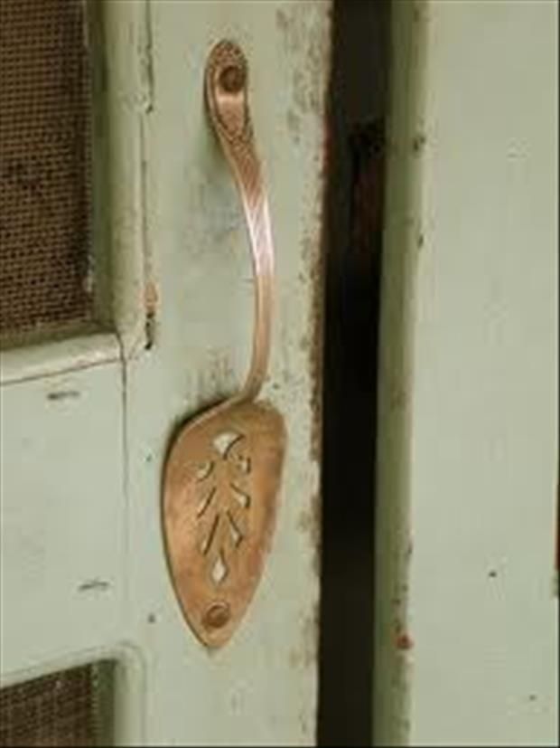 DIY Ideas- Serving spoon door handle