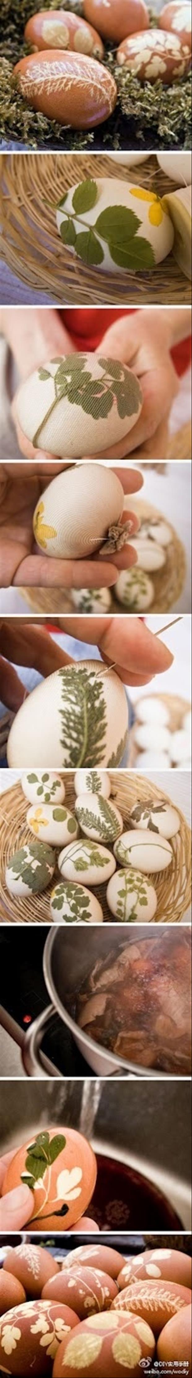 Easy Easter DIY Crafts- Amazing stencilled eggs
