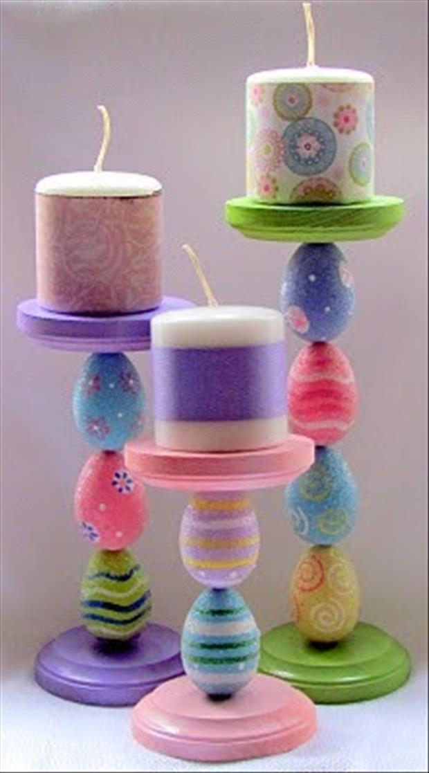 Easy Easter DIY Crafts- Egg candle stands
