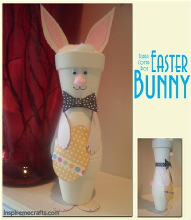 Easy Easter DIY Crafts- Pot easter bunny