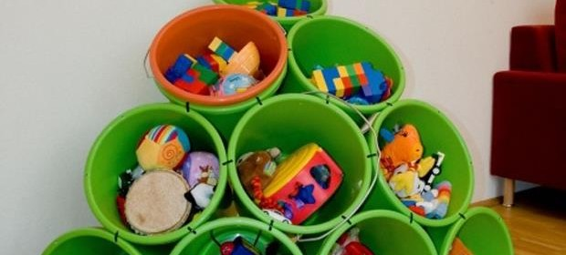 Fun DIY Crafty ideas- Bucket toy storage
