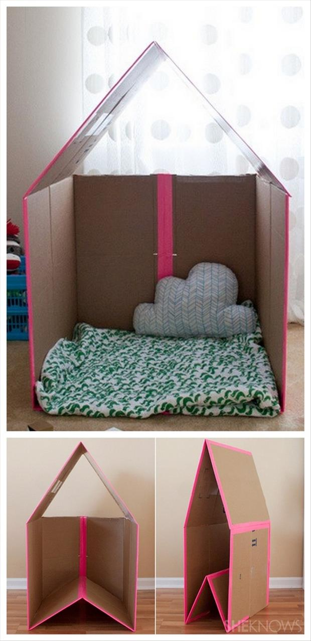 Fun DIY Crafty ideas- Collapsible Playhouse