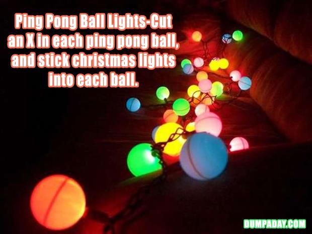 Fun DIY Crafty ideas- Ping pong ball lights