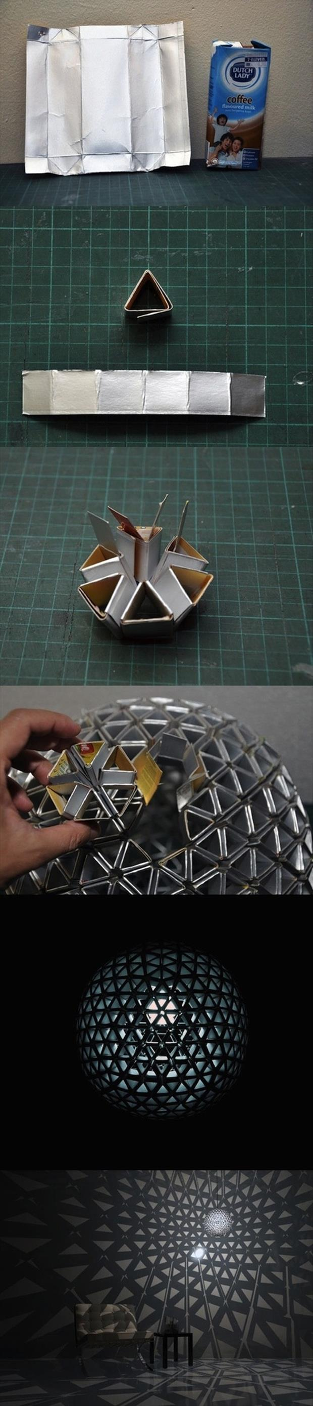 Fun DIY Crafty ideas- geometric light