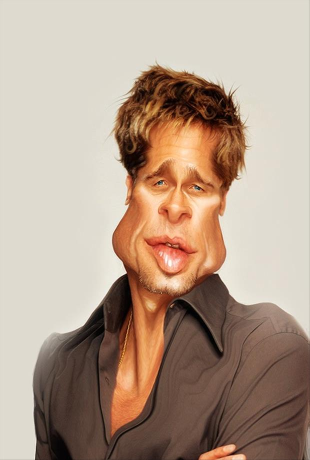 Funny Celebrity Charicatures- Brad Pitt