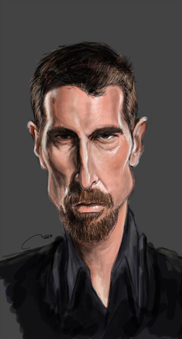 Funny Celebrity Charicatures-Christian Bale