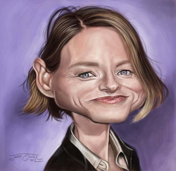 Funny Celebrity Charicatures-Jodie Foster
