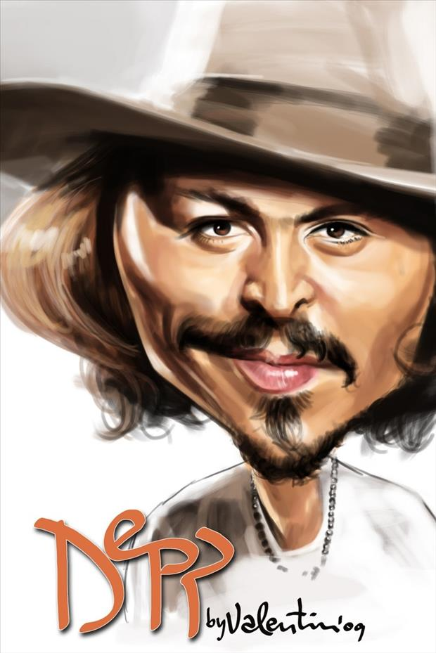 Funny Celebrity Charicatures- Johnny Depp