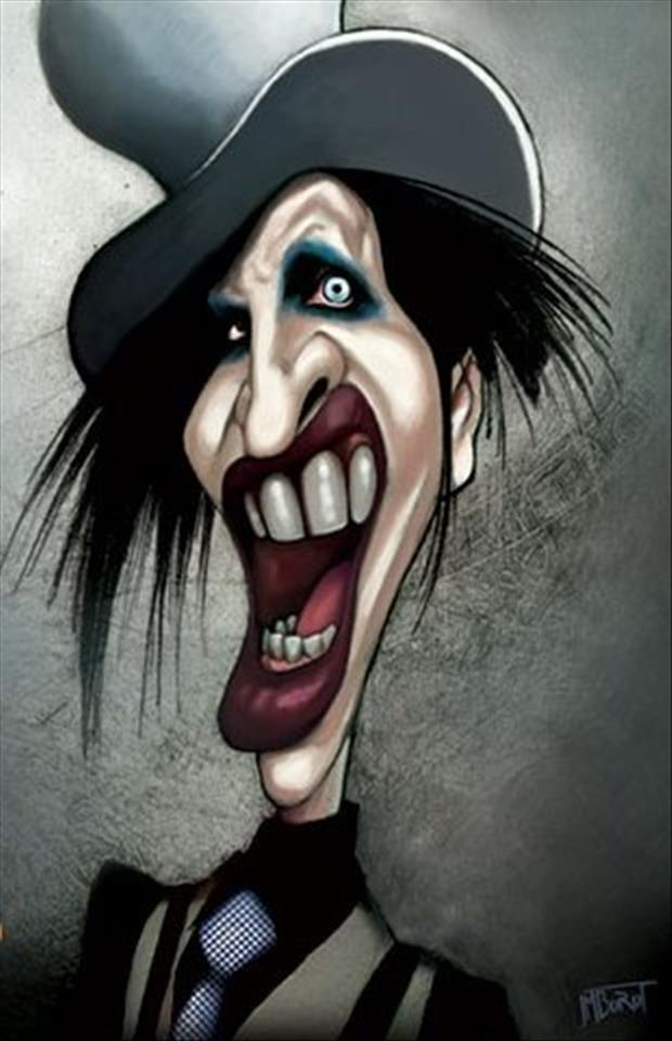 Funny Celebrity Charicatures-Marilyn Manson