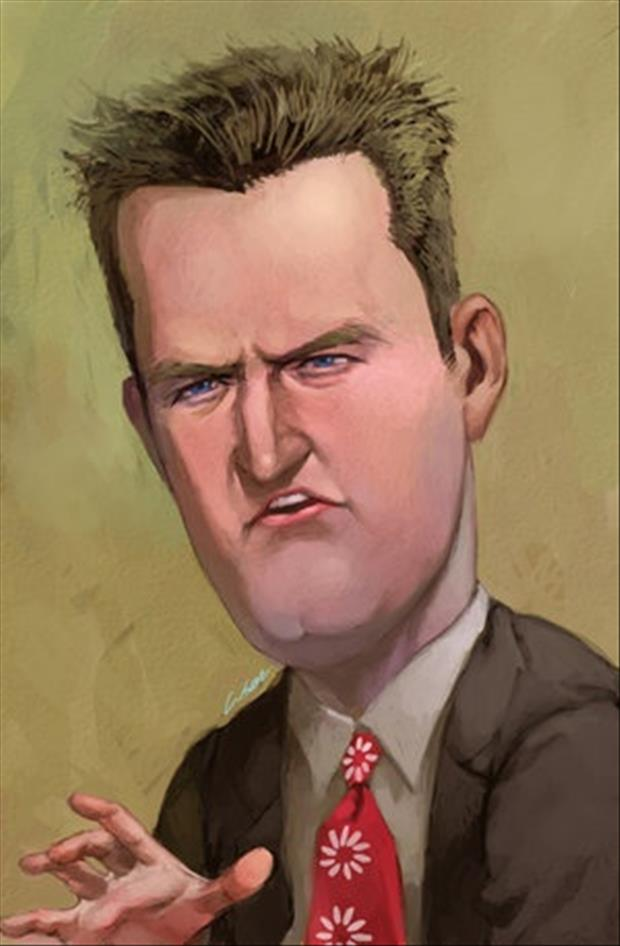 Funny Celebrity Charicatures- Matthew Perry-Chandler Bing