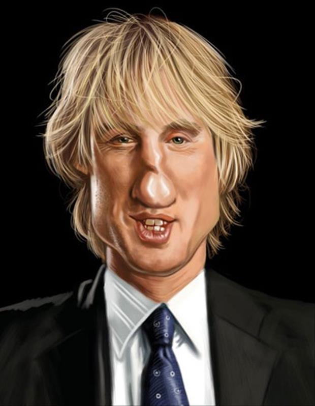 Funny Celebrity Charicatures- Owen Wilson