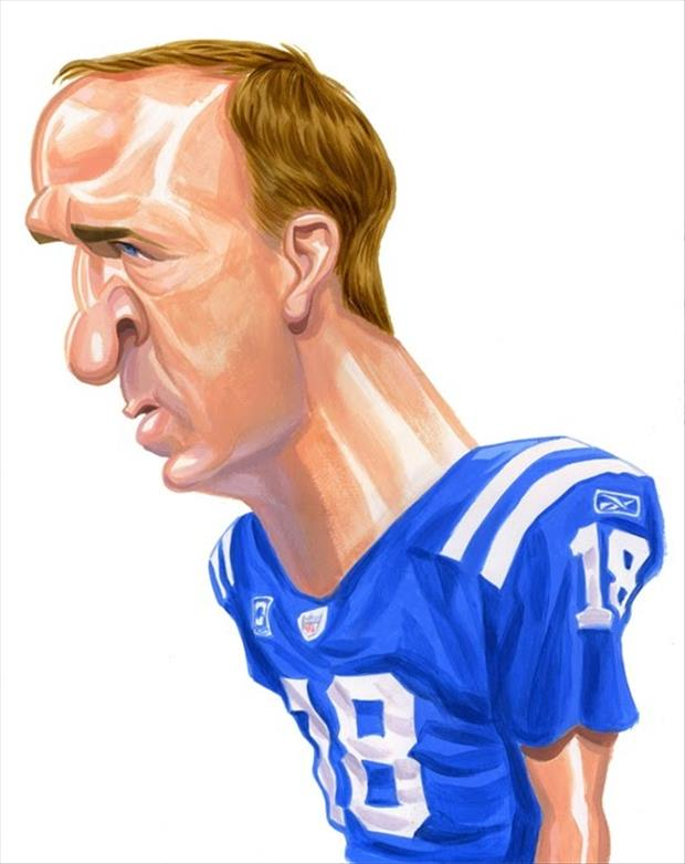 Funny Celebrity Charicatures-Peyton Manning