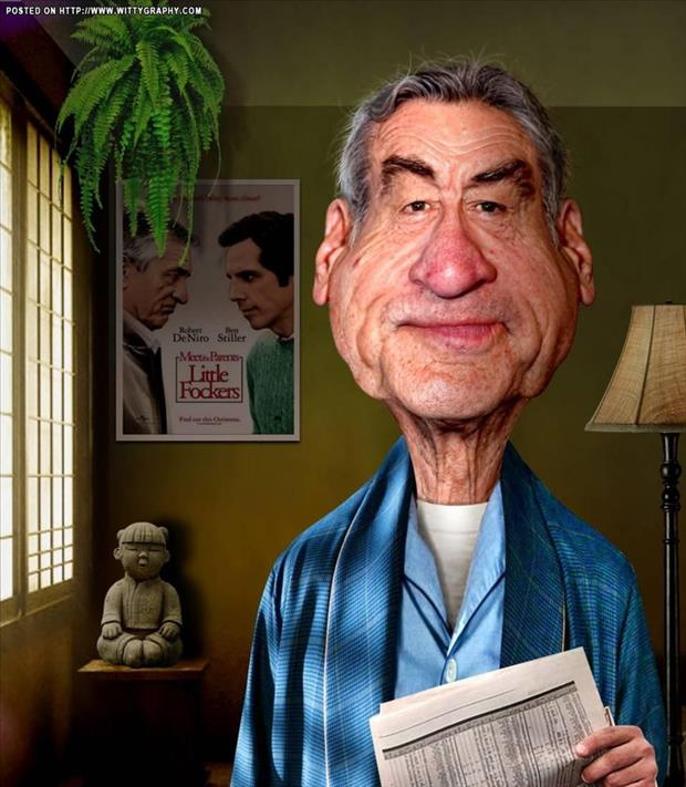 Funny Celebrity Charicatures- Robert De Niro