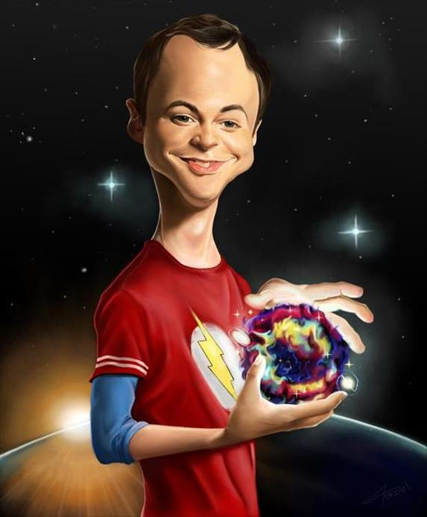 Funny Celebrity Charicatures-Sheldon Cooper, Jim Parsons