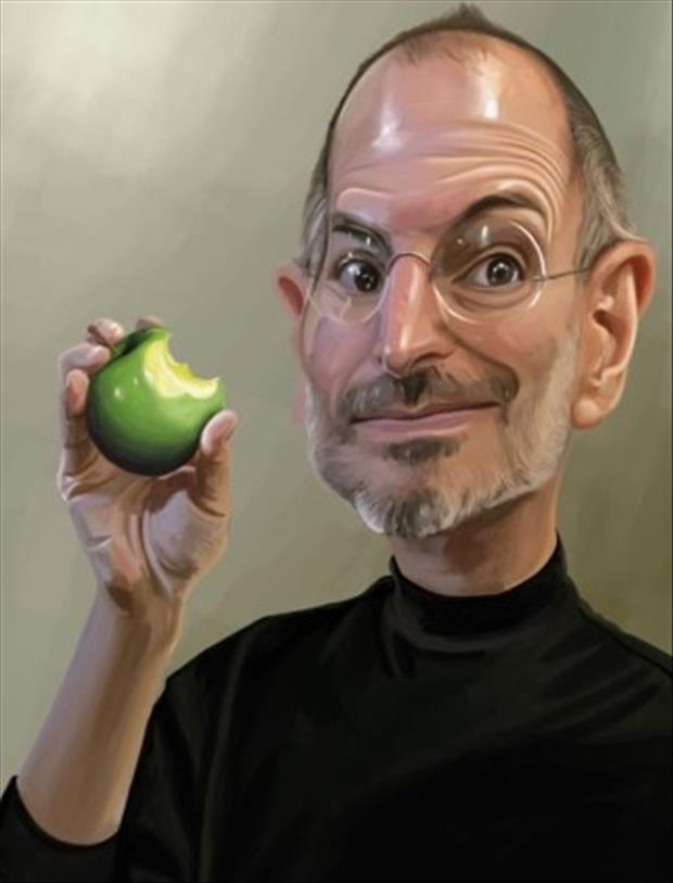 Funny Celebrity Charicatures-Steve Jobs
