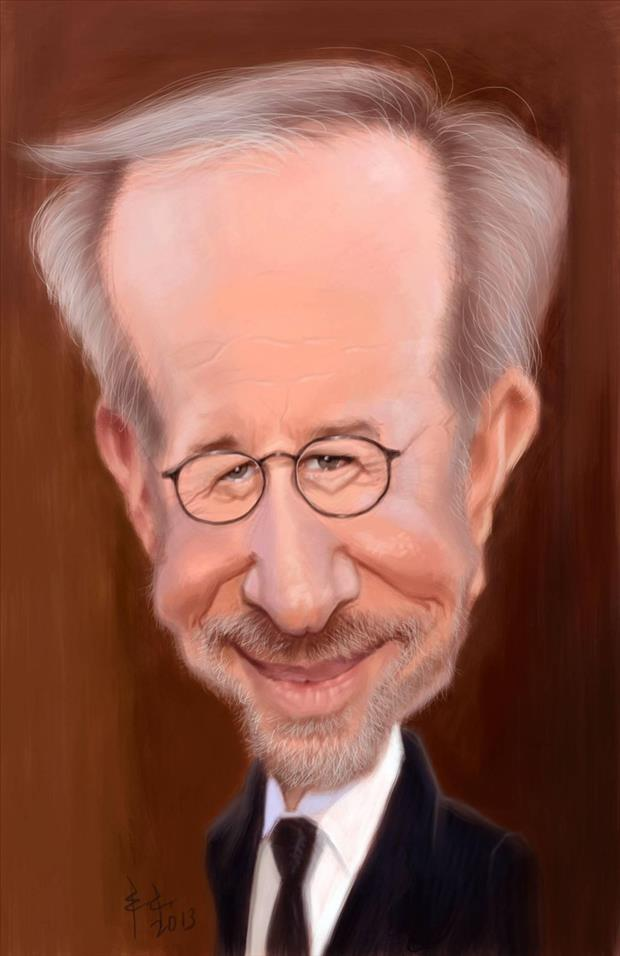 Funny Celebrity Charicatures-Steven Spielberg