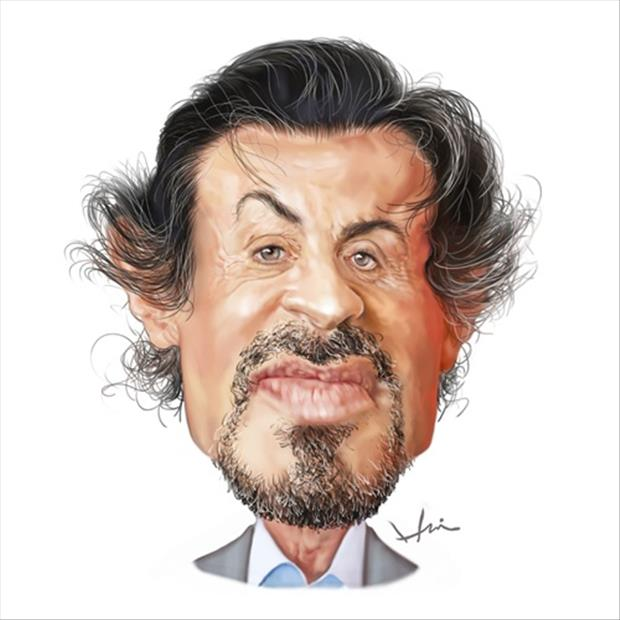 Funny Celebrity Charicatures-Sylvester Stallone