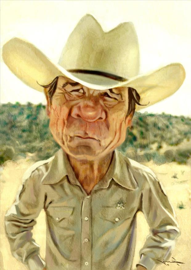 Funny Celebrity Charicatures-Tommy Lee Jones