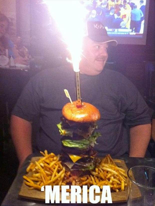 Funny Murica Pictures-birthday burger