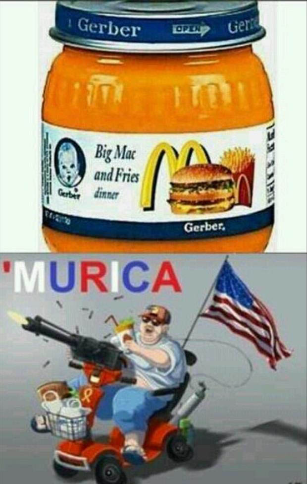 Funny Murica Pictures-murica baby food