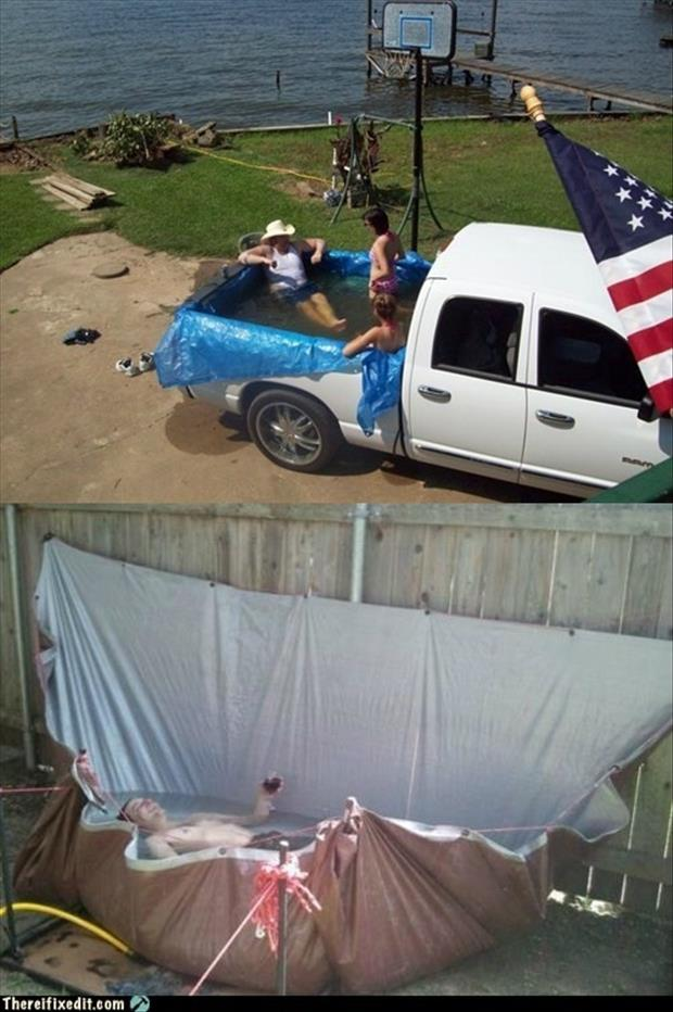 Funny Murica Pictures-red neck pools