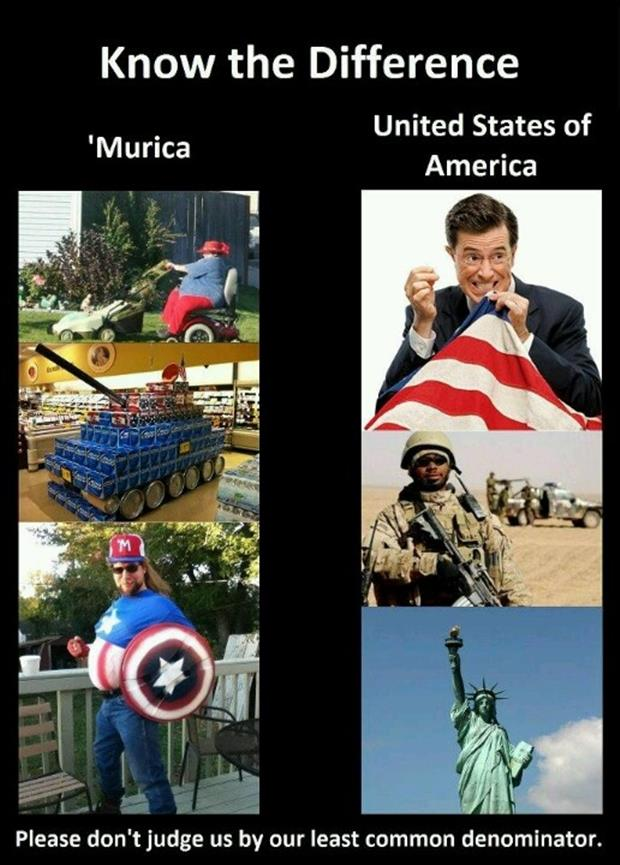 Funny Murica Pictures- the difference between murica and The United States