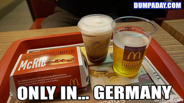 Funny Only In Pictures- Germany McDonalds Beer