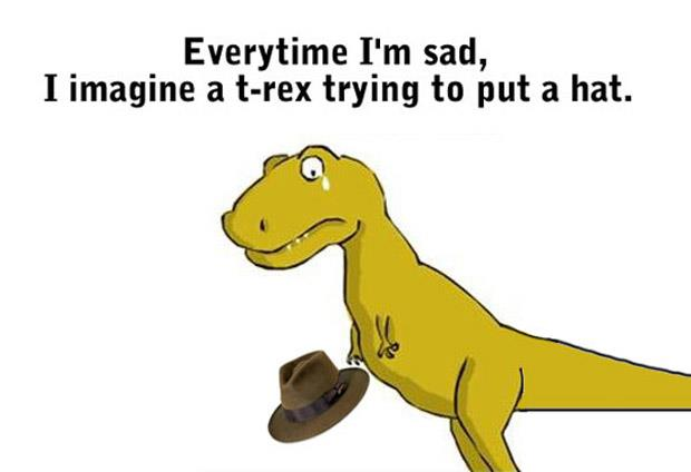 Funny T-Rex Hat Picture