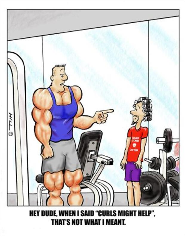 Cartoon Exercise Funny Fitness