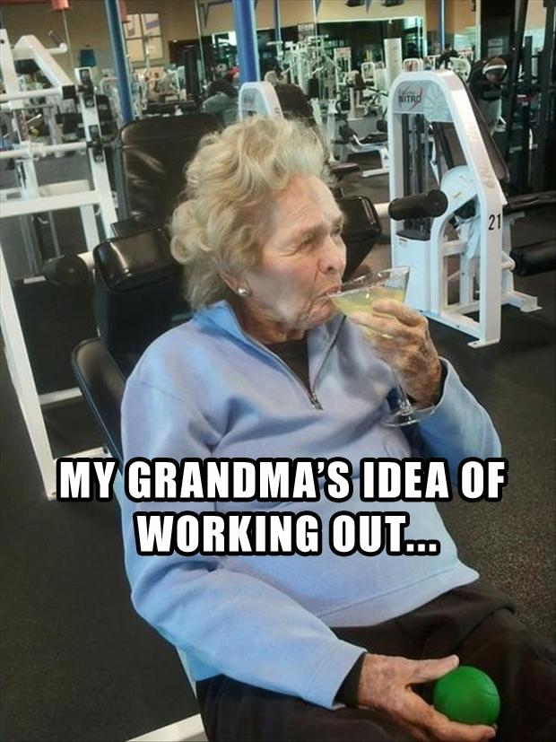 Funny fitness pictures- grandmas workout