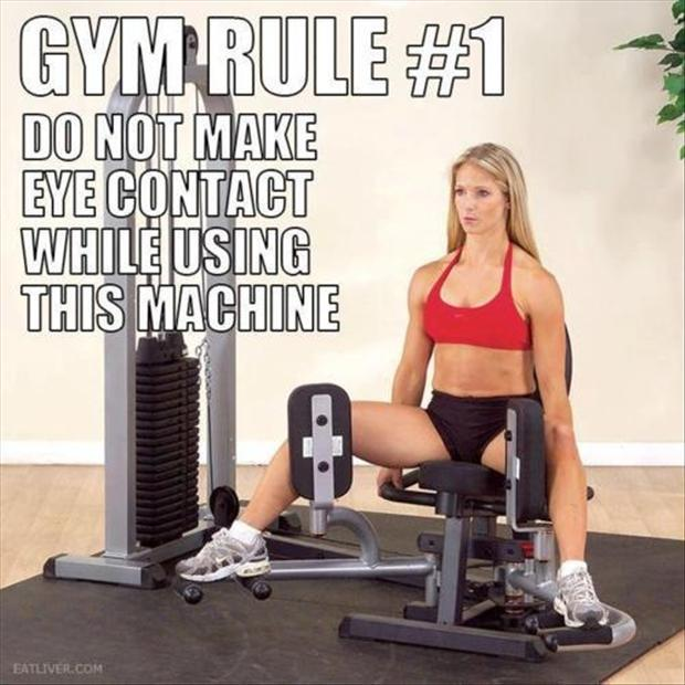 Funny fitness pictures- gym rules