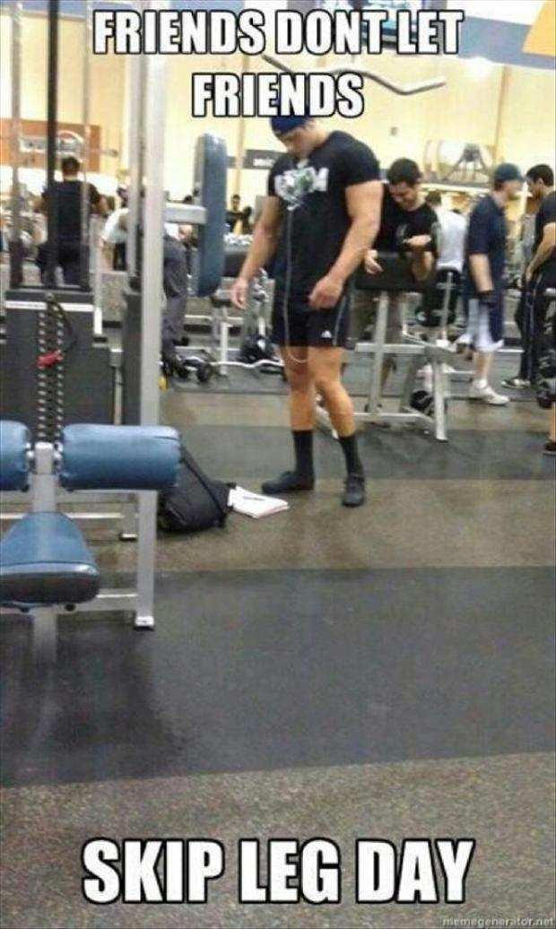 Funny fitness pictures- leg day