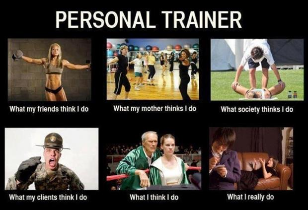 Funny fitness pictures- personal trainer reality