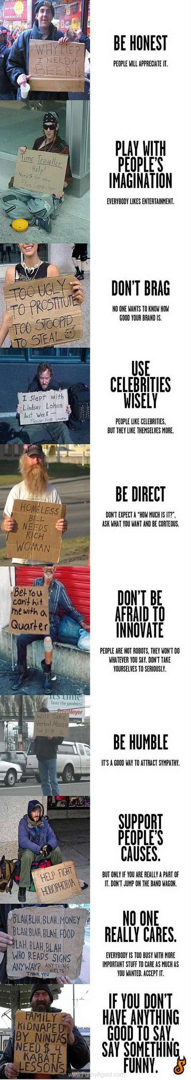 How to make the perfect homeless guy sign