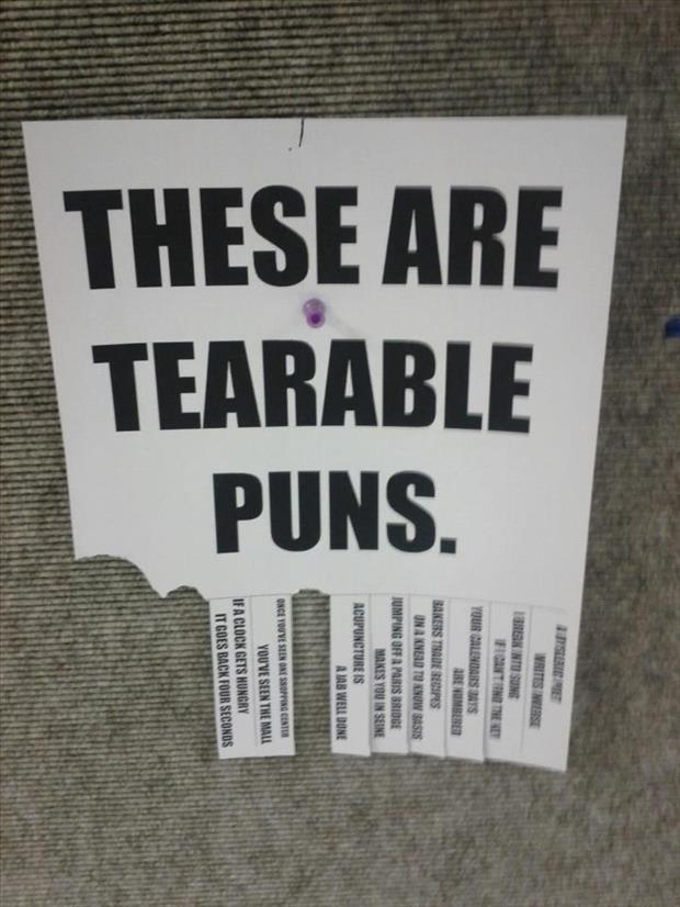 Punny Puns- tearable puns