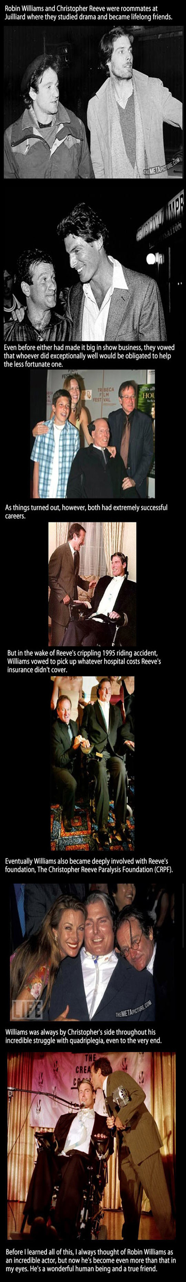 Robin Williams and Christopher Reeves