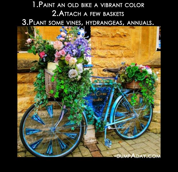 Spring garden ideas- bicycle planter