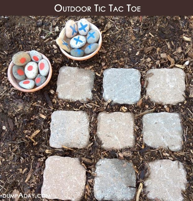Spring garden ideas- outdoor tic tac toe