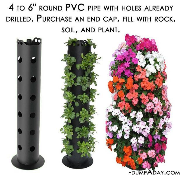 Spring garden ideas- pvc pipe planter
