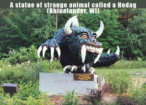 The Most Incredible Roadside Sights - Hodag